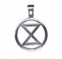 PE001473 Sterling Silver Pendant Extinction Symbol Genuine Handmade Solid Hallmarked 925