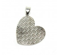 PE001474 Sterling Silver Pendant Filigree Heart Genuine Solid Hallmarked 925 Empress
