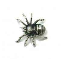 A000025 Huge Sterling Silver Brooch Solid 925 Spider