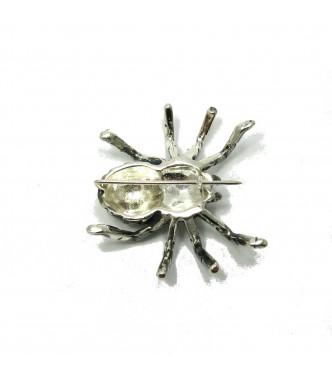 A000025 Huge Sterling Silver Brooch Solid 925 Spider