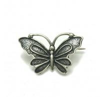 A000029 Stylish Sterling Silver  Brooch Butterfly 925
