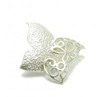 A000032 Stylish Sterling Silver Brooch Butterfly 925