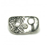 A000033 Extravagant Stylish Sterling Silver Brooch 925