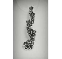 PE000107 Stylish Sterling Silver Pendant Solid 925 Flower
