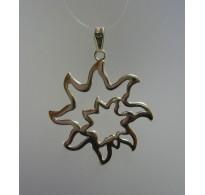 PE000284 Stylish Sterling silver pendant 925 charm sun solid