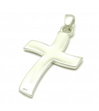 PE000010 Stylish Sterling silver pendant 925 Solid Cross