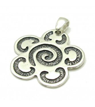PE000015  Sterling silver pendant  flower  925 solid