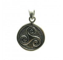 PE000022 Stylish Sterling silver pendant   925 solid quality Triskelion