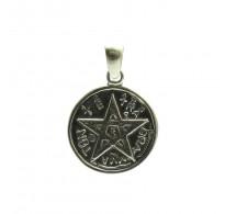 PE000170 Stylish Sterling silver pendant   925 solid quality Pentagram