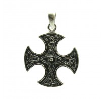 PE000171 Stylish Sterling silver pendant  925 Celtic cross quality solid