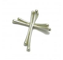 PE000356 Sterling silver pendant  Cross solid 925 Empress