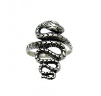 R000012 STERLING SILVER RING SNAKE SIZE 3.5 - 13 QUALITY SOLID 925 NEW