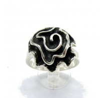 R000019 STERLING SILVER Ring Solid 925 Flower