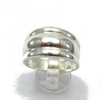 R000024 Stylish STERLING SILVER Ring Solid 925 Plain Band