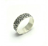 R000034 STERLING SILVER Ring Solid 925 Celtic Band Triquetra