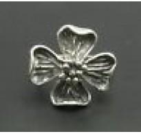 R000441 Genuine Plain Sterling Silver Ring Flower Stamped Solid 925 Handmade Empress