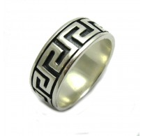 R000058 STERLING SILVER RING BAND BIKER SOLID 925 SIZE 3.5 - 16