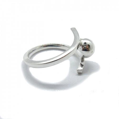 Genuine sterling silver ring solid hallmarked 925 Ball R001799 Empress