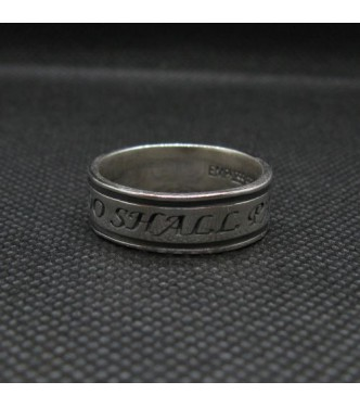 R002017 Genuine Sterling Silver Ring Band This Too Shall Pass Solid Hallmarked 925 Handmade