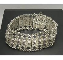 B000127 Sterling Silver Bracelet Solid 925 Vintage