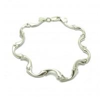 B000179 Stylish Sterling Silver Bracelet Solid 925