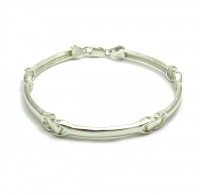 B000182 Stylish Sterling Silver Men Bracelet Solid 925