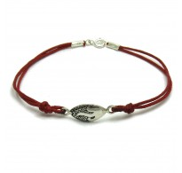B000187R Sterling Silver Bracelet Solid 925  with red string EMPRESS