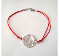 B000262R Sterling Silver Bracelet Solid 925 Tree of Life With Red String EMPRESS