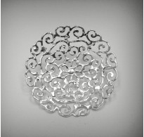 A000018 STYLISH STERLING SILVER BROOCH SOLID 925