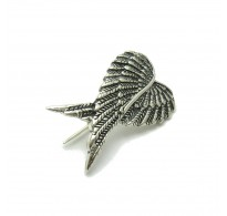 A000065 STERLING SILVER BROOCH SOLID 925 ANGEL WINGS EMPRESS