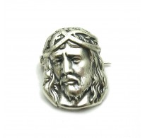 A000073 STERLING SILVER BROOCH SOLID 925 JESUS EMPRESS