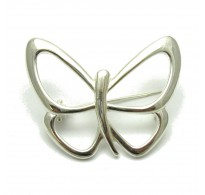 A000076 STERLING SILVER BROOCH SOLID 925 BUTTERFLY EMPRESS