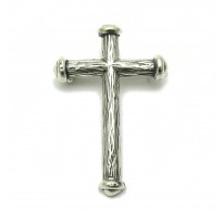 A000084 Stylish Sterling Silver Brooch Solid 925 Cross