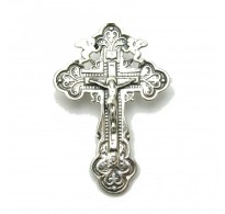 A000086 Stylish Sterling Silver Brooch Solid 925 Cross