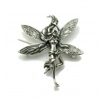 A000089 STERLING SILVER BROOCH FAIRY SOLID 925  EMPRESS