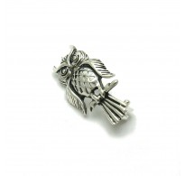 A000091 STERLING SILVER BROOCH OWL SOLID 925  EMPRESS