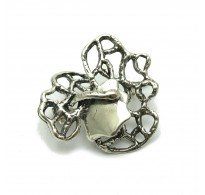 A000124 STERLING SILVER BROOCH SOLID 925  EMPRESS