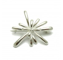 A000126 EXTRAVAGANT STERLING SILVER BROOCH SOLID 925 EMPRESS