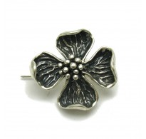 A000127 STERLING SILVER BROOCH FLOWER SOLID 925 EMPRESS