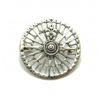 A000130 STERLING SILVER BROOCH COMPASS SOLID 925  EMPRESS