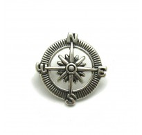 A000131 STERLING SILVER BROOCH COMPASS SOLID 925  EMPRESS