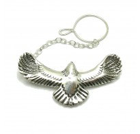 A000137 Sterling silver Tie Clasp solid 925 Eagle  Empress
