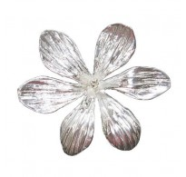 A000154 Handmade Sterling Silver Brooch Big Flower Genuine Solid Stamped 925 Empress