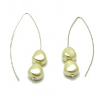 E000004CP11x10 Sterling Silver Earrings 925 synthetic pearls
