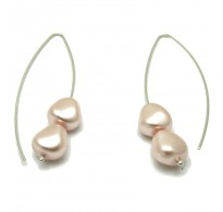 E000004RP11x10 Sterling Silver Earrings 925 synthetic pearls