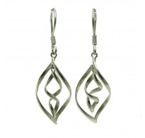 DANGLING STERLING SILVER EARRINGS SOLID 925 E000590