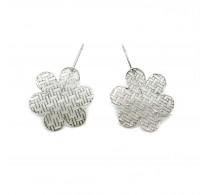 E000776 Genuine Sterling Silver Earrings Filigree Flowers Solid Hallmarked 925