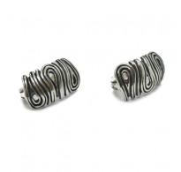 E000783 Genuine Sterling Silver Earrings Solid Hallmarked 925 Handmade