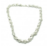 N000277 STERLING SILVER NECKLACE CHAIN SOLID 925  EMPRESS 40CM