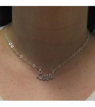 N000279 Sterling silver necklace Love genuine hallmarked 925